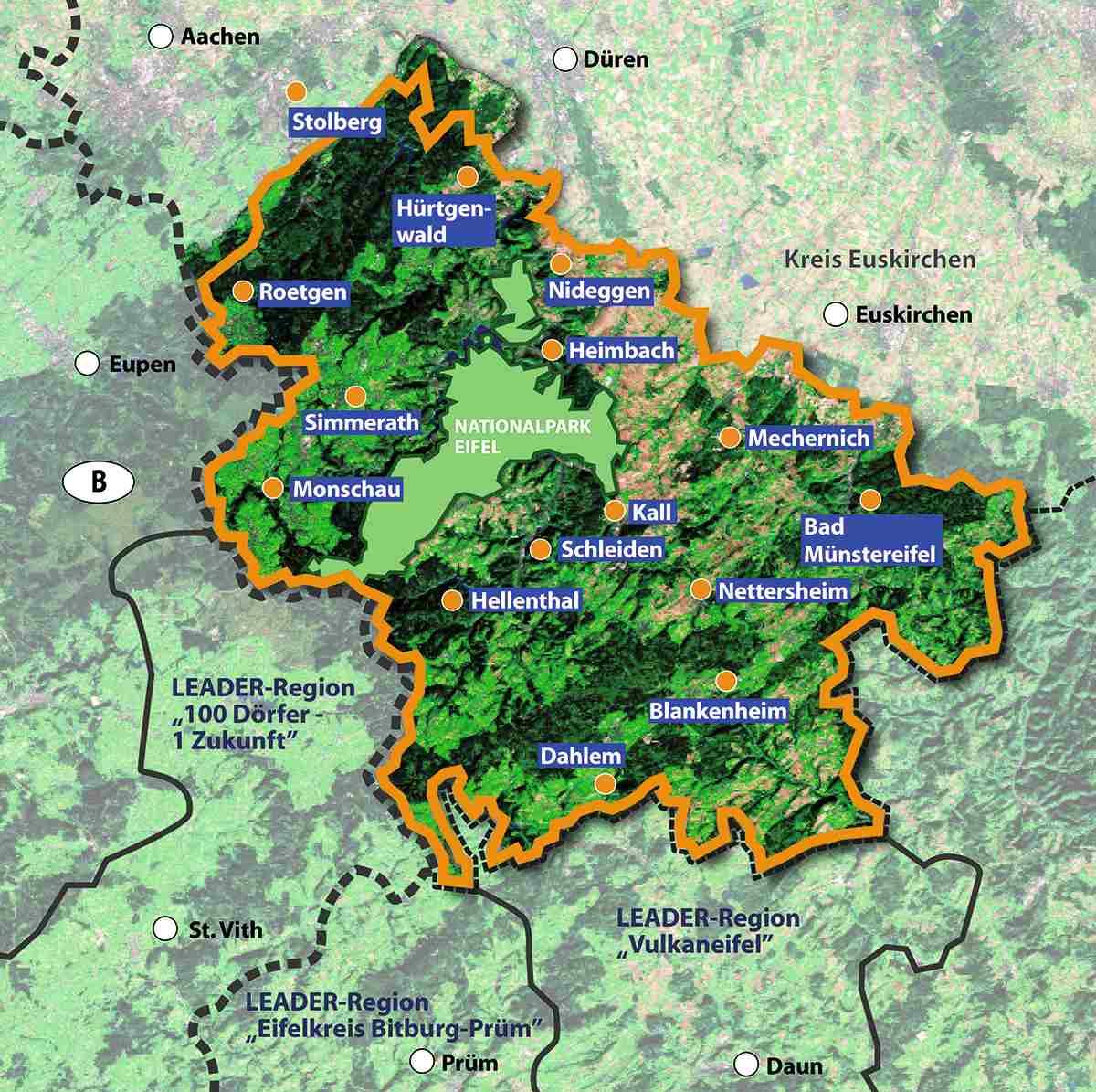 Karte Eifel.Nettersheim Leader Region Eifel In Neuem Design